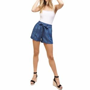 Dynamite High-waisted Shorts with Tie Front